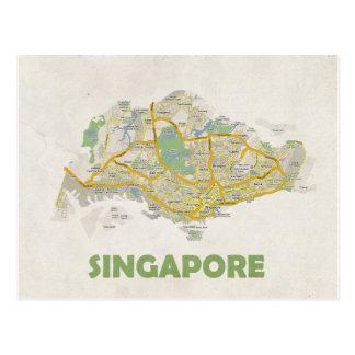 ♥ Singapur de las POSTALES del MAPA