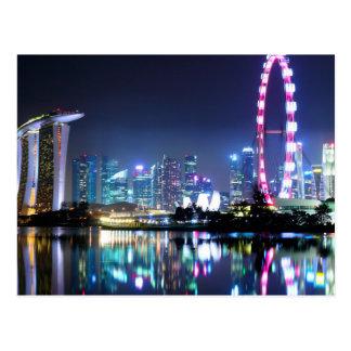 Singapur en la postal de la noche