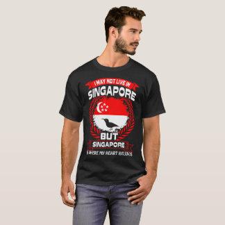 Singapur es donde pertenece mi corazón camiseta