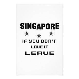 Singapur si usted no lo ama, se va papeleria de diseño