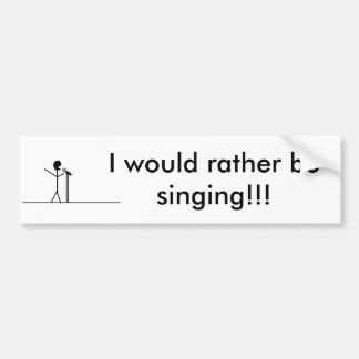 ¡singer3, estaría cantando bastante!!! pegatina para coche