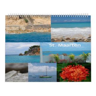 Sint Maarten - San Martín calendario de 12 meses