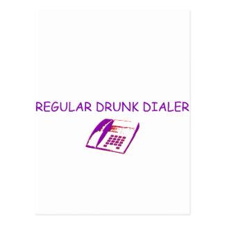 sintonizador borracho tarjeta postal