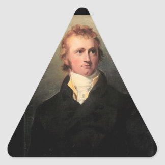 Sir Alexander Mackenzie Pegatina Triangular