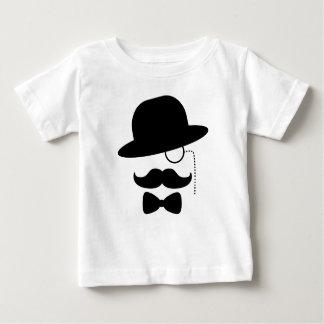 Sir con el bigote camiseta de bebé
