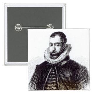 Sir Francisco Walsingham Chapa Cuadrada 5 Cm