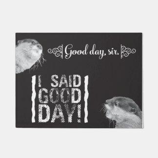 """Sir Otter del buen día 18"""" x 24"""" estera de puerta"""
