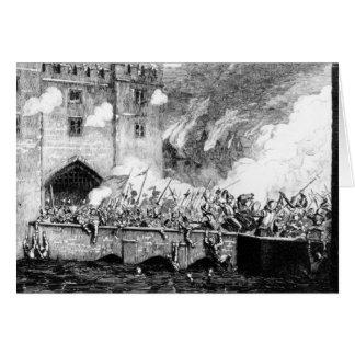 Sir Thomas Wyatt Attacking la torre de Byward Tarjeta De Felicitación