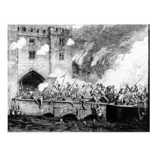 Sir Thomas Wyatt Attacking la torre de Byward Postal