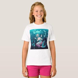 Sirena azul joven camiseta