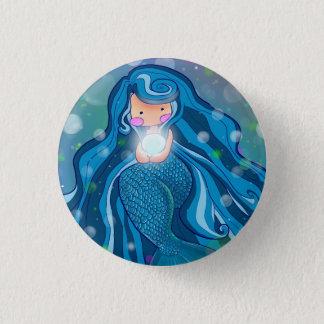 Sirena con el botón brillante de la perla