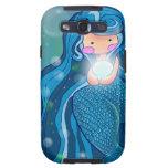 Sirena con la caja brillante de la galaxia de Sams Samsung Galaxy S3 Funda