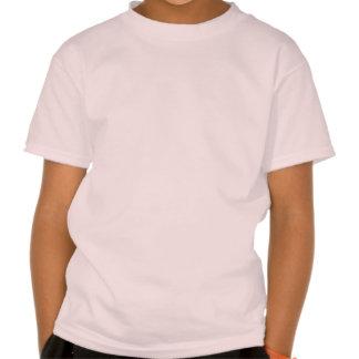 Sirena de Glow_Black-on-Pink del océano Camisetas