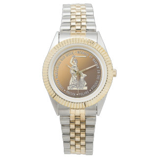 Sirena de Varsovia en el oro - reloj