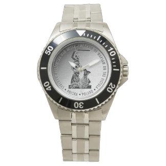Sirena de Varsovia en Medalion de plata - reloj
