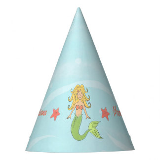 Sirena debajo del gorra del fiesta del papel del