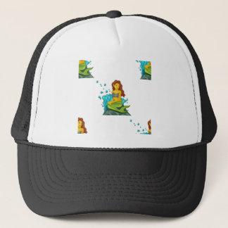 sirena del emoji gorra de camionero