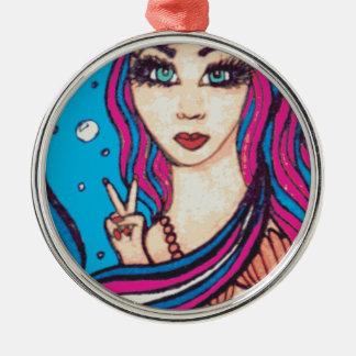 Sirena del Hippie Ornamento Para Reyes Magos
