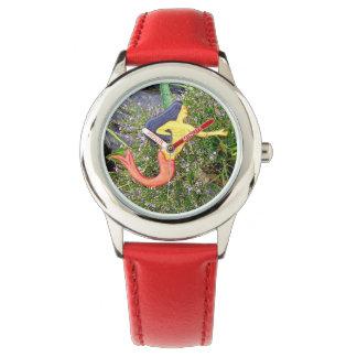 sirena del sirena de la rojo-cola reloj de pulsera