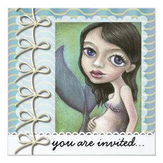 Sirena embarazada invitación 13,3 cm x 13,3cm