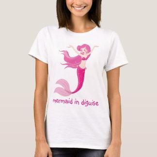 Sirena en disfraz camiseta