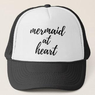 Sirena en el corazón gorra de camionero