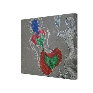Sirena extranjera impresión en lienzo