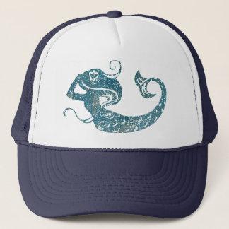 Sirena gastada gorra de camionero