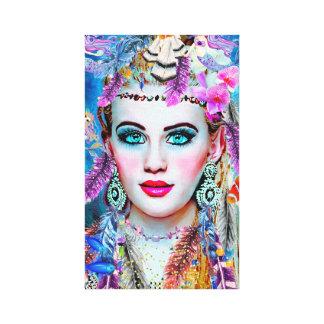 Sirena gitana, arte de la pared, arte de Fantacy,