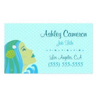 Sirena hermosa tarjetas de visita