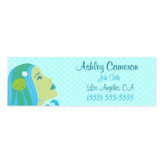 Sirena hermosa tarjetas de visita mini