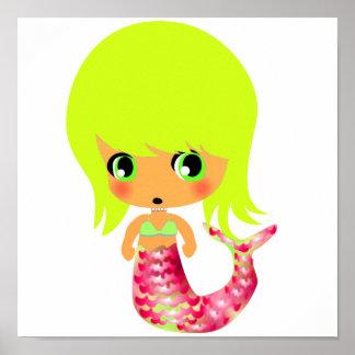 sirena mágica 3 del chibi póster