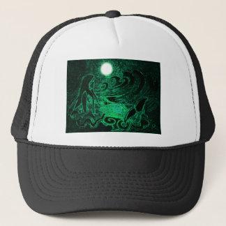 Sirena metálica del mar gorra de camionero