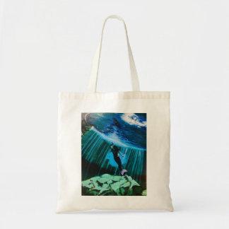 Sirena subacuática por la bolsa de asas de Juan