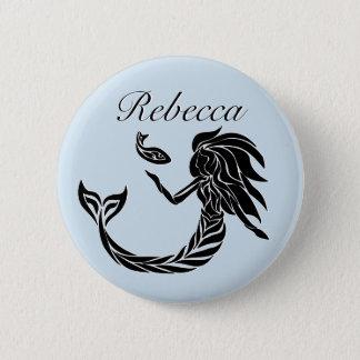 Sirena tribal chapa redonda de 5 cm