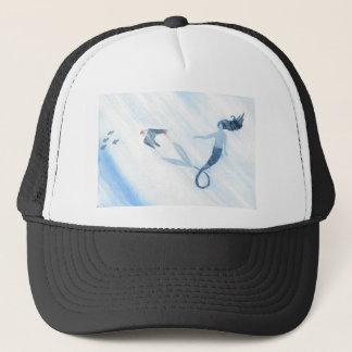 Sirena y frailecillo gorra de camionero