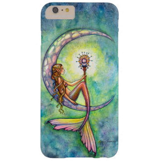 Sirenas del arte de la fantasía de la luna de la funda barely there iPhone 6 plus