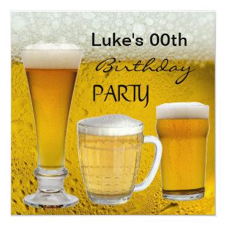 Sirve cualquier cerveza de las bebidas de la invitación 13,3 cm x 13,3cm