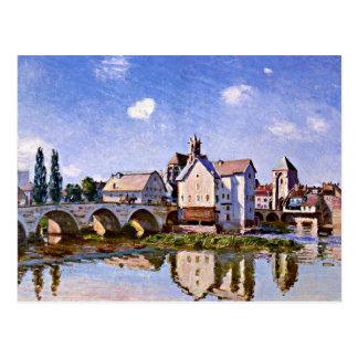 Sisley - el puente de Moret en la luz del sol Postal