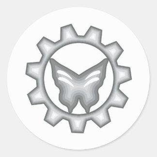 Sistema blanco del pegatina del logotipo del
