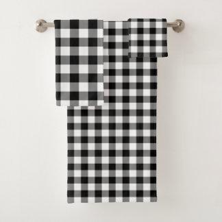 Sistema blanco y negro hermoso de la toalla del