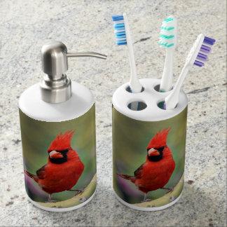 Sistema cardinal masculino del cuarto de baño vasos para cepillos de dientes