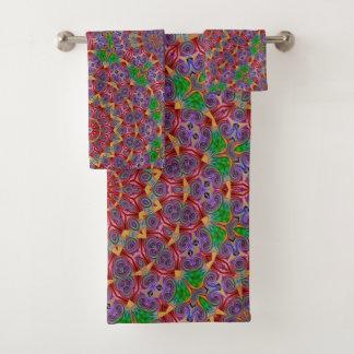 Sistema colorido de la toalla del cuarto de baño