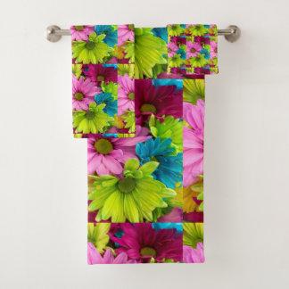sistema colorido de moda de la toalla de la flor