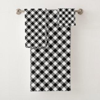 Sistema comprobado blanco y negro diagonal de la