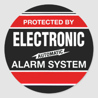 Sistema de alarma electrónico pegatinas redondas