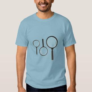 sistema de la lupa camisetas