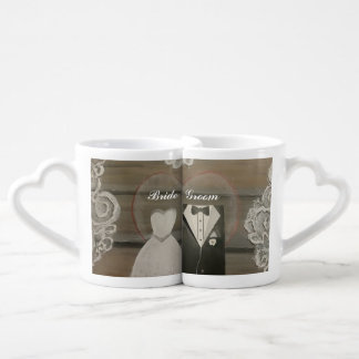 Set De Tazas De Café Sistema de la taza de café de los amantes de la
