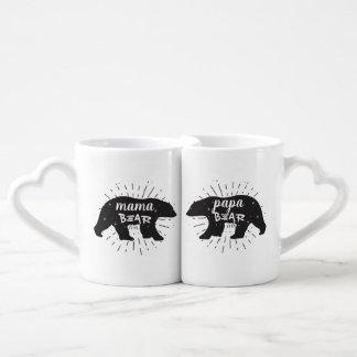 Sistema de la taza de café de mamá Bear Papa Bear