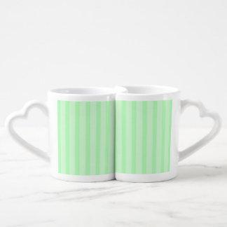 Sistema de la taza de los amantes de las rayas del tazas para parejas